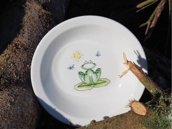 Teller Scandia tief Frosch mit Fliege
